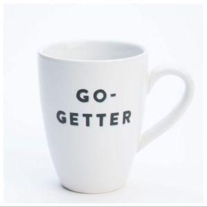 West Elm X FEED Spirited Mug Go Getter White